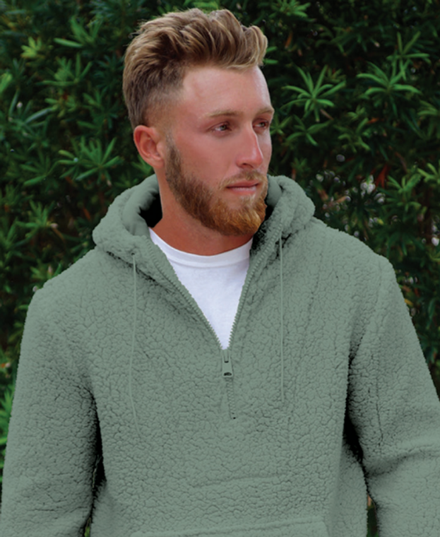 SHERPA PULLOVER SOLID SAGE GREEN