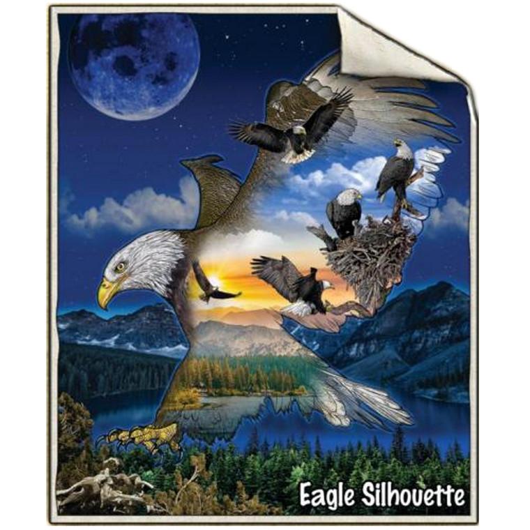 SHERPA THROW EAGLE SILHOUETTE