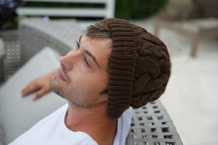 BRADED KNITTED HAT