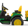 Young Farmers Sit-on John Deere Ground Force 12v Tractor & Trailer Toy