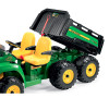 24v 2 Seat John Deere 6-Wheel Large Garden Kids HPX6x4 Childs Tractor