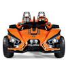 Twin Seat Peg Perego 12v Twin Motor Polaris Racing Car with Radio