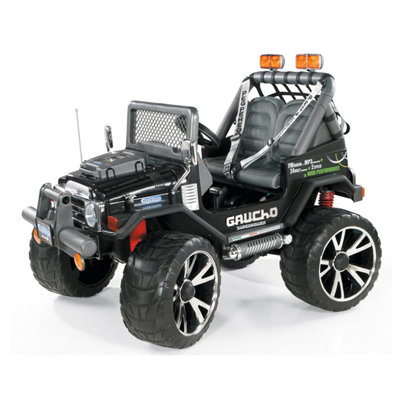 2 Seat Superpower Gaucho Peg Perego 24v 4X4 With EVA Tyres Toolkit