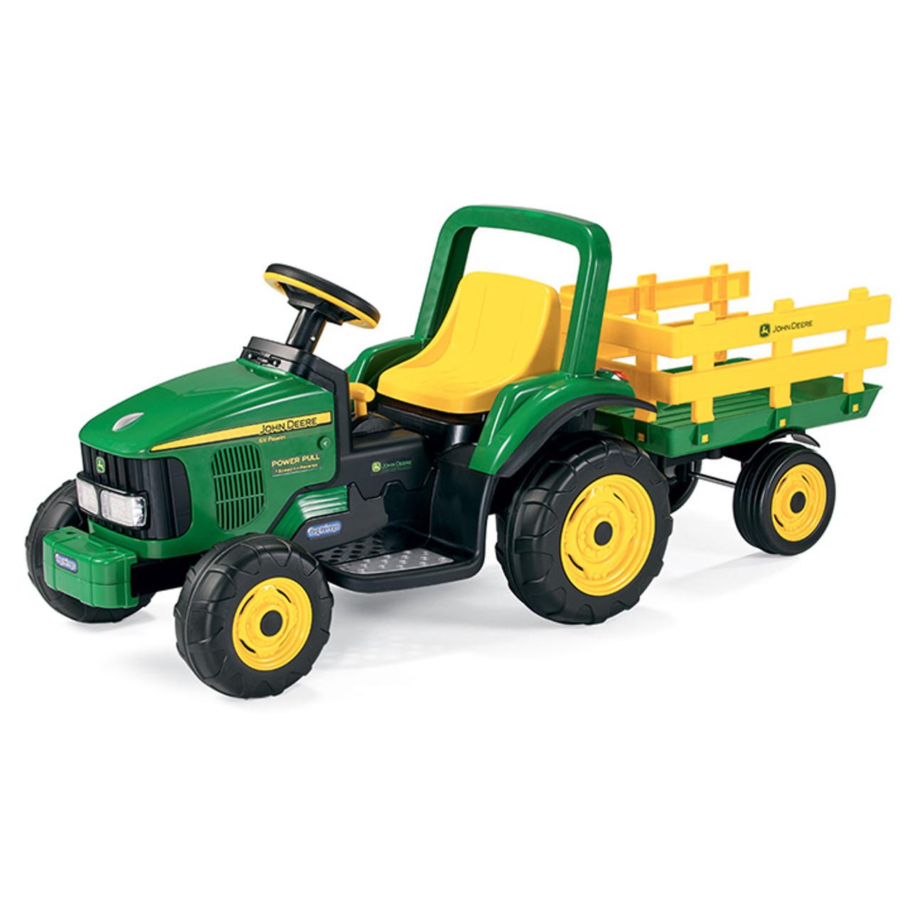 John Deere Ride On Toys >> Peg Perego 6v John Deere Motorized Sit On Tractor Trailer