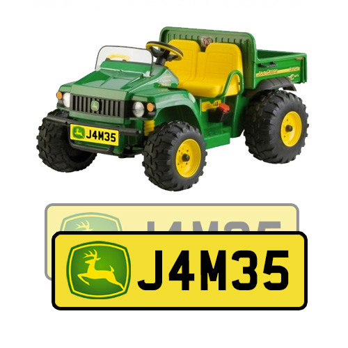 John Deere Style Child's Personalised Number Plate Set
