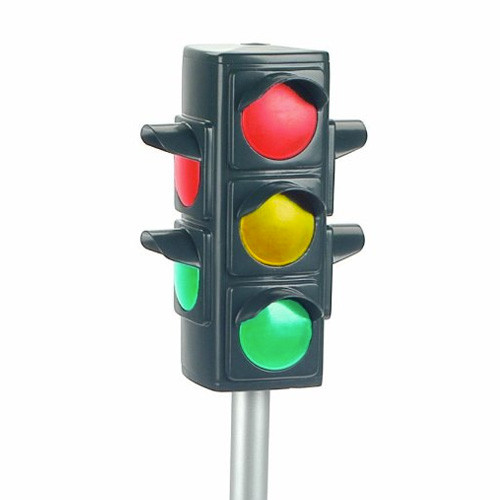 Kids Working Playtime Traffic Light Set with Stand