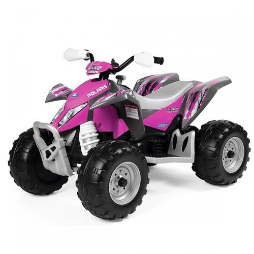 12v Peg Perego Pink Electric Outlaw Kids Quad Bike