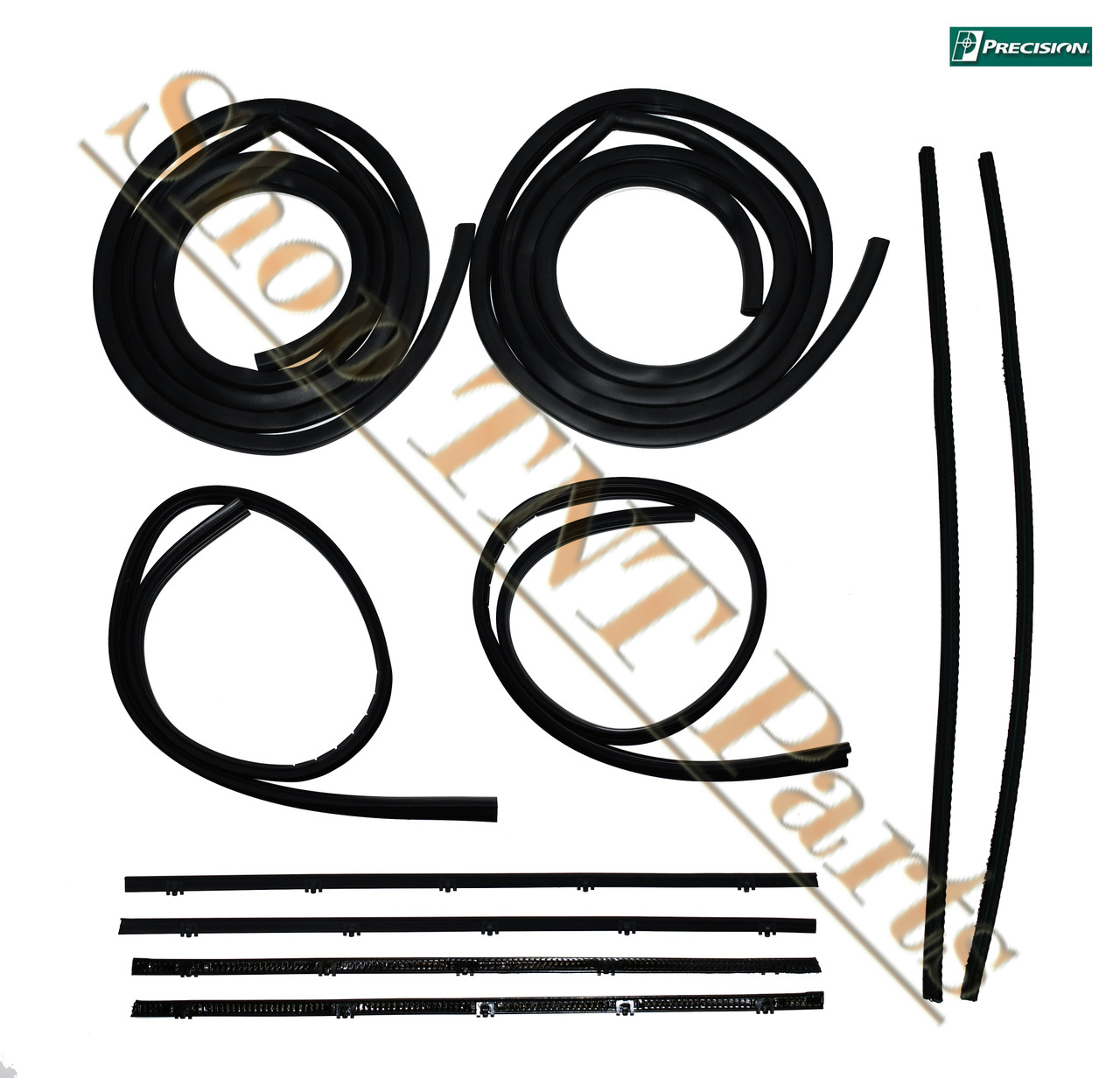1967-1972 Chevrolet GMC Pickup Door Seal Weatherstripping Kit Precision