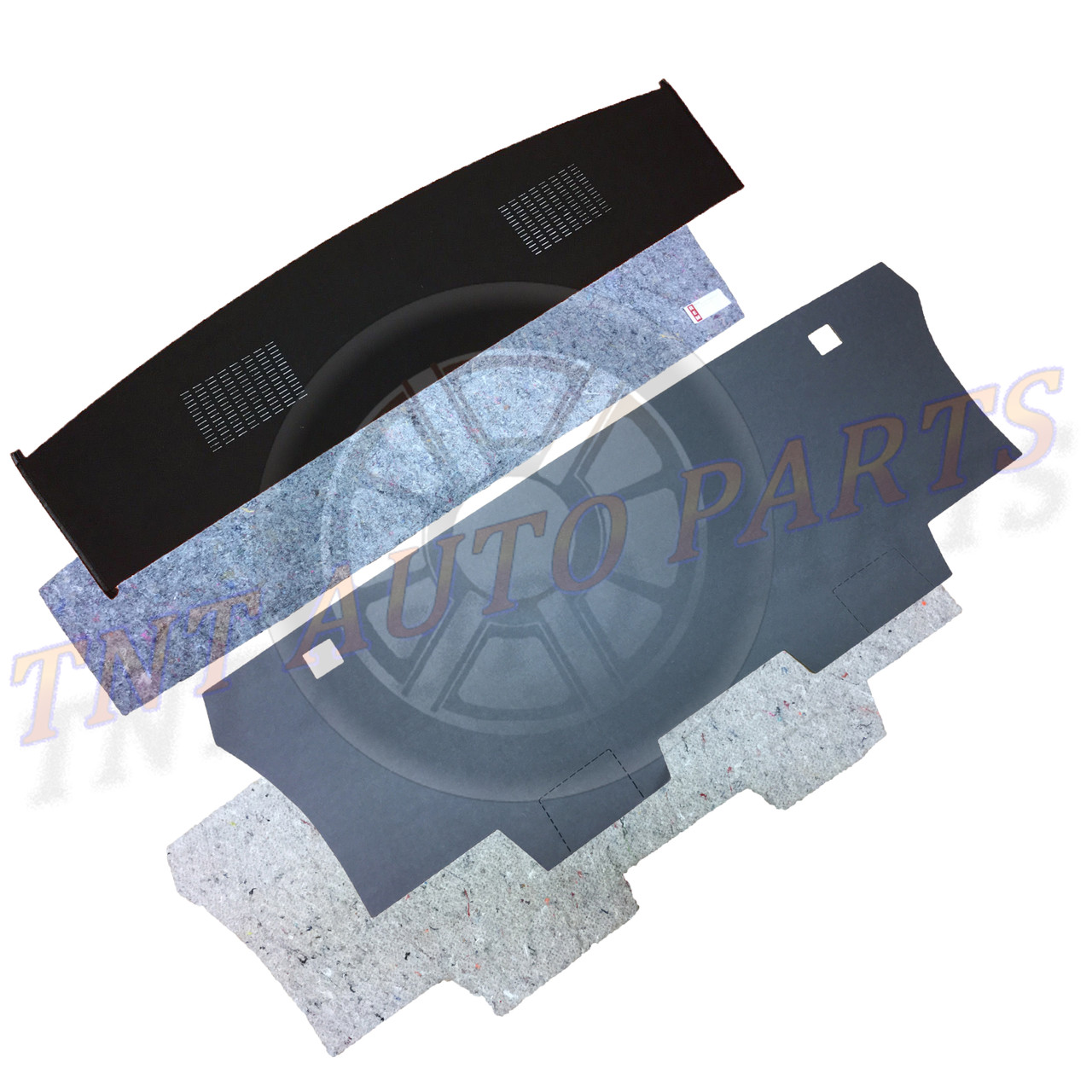 1966-1967 Plymouth GTX / B Body Package Tray Trunk Divider Kit + Jute