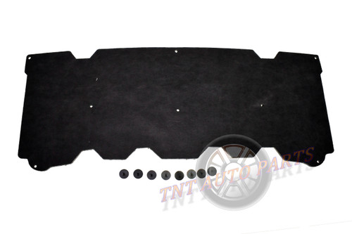 """2007-2013 GMC and Chevrolet Pick-Up Truck Hood Insulation Pad 1/2"""" with clips"""