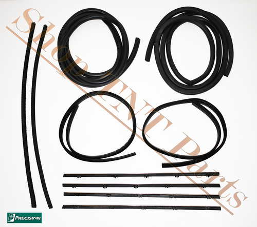 1967-1972 Chevrolet Pickup CHROME Door Seal Weatherstripping Kit Precision