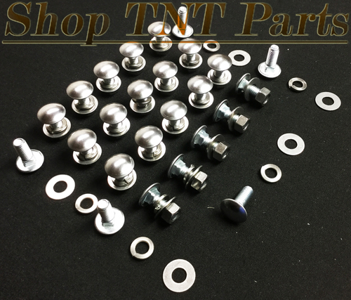 "Bumper Bolts / Nuts / Flat & Lock Washers 25/100pc Kit Round Head 3/8"" Hole Size"