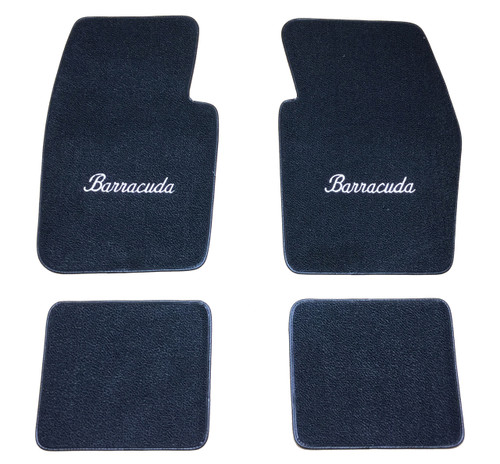 1964-74 Plymouth Barracuda Floor Mats With Logo