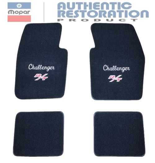 1970-74 Challenger R/T Embroidered Floor Mats Mopar Licensed
