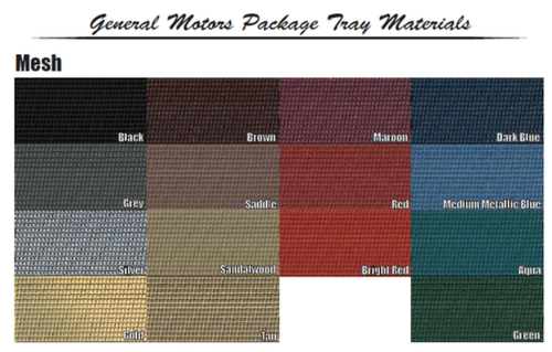1964-65 Chevelle Sedan Package Tray Choose Color + Jute