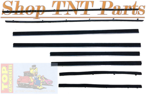 1963-65 B Body 4 Door Sedan / Wagon  Window Felt Kit Belt Lines