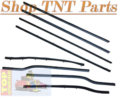 1962 Dodge & Plymouth B Body 2 door Sedan Window Felt Kit Belt Lines