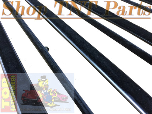 1963-64 B Body 4 Door Hardtop  Window Felt Kit Belt Lines Felts Sweeps