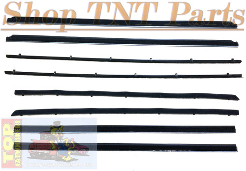 1964-65 B Body 2 Door Hardtop / Coupe  Window Felt Kit Belt Lines