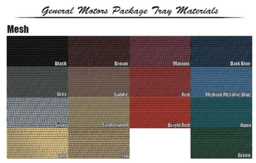1962-65 Chevy II / Nova Package Tray Choose Color + Jute
