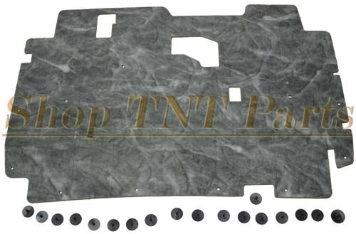 1984-1996 Jeep Cherokee Hood Insulation Pad Cherokee W/ Clips