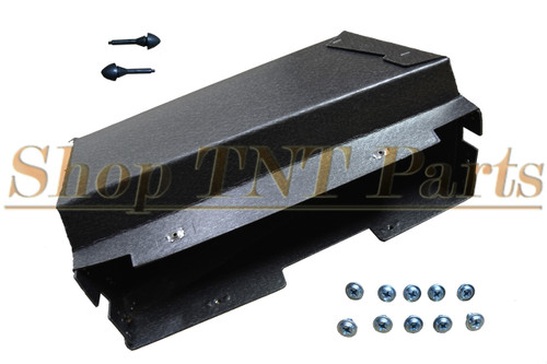1965 Dodge Coronet Glove Box Liner With Screws & Bumpers
