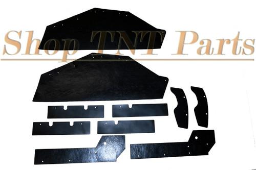 1963-1964 Bonneville Catalina Inner Fender A Arm Splash Shields Seals 10 Piece Pontiac