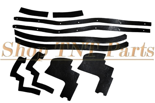 1963-1966 Dodge Dart Front Fender Splash Shield Kit Seals Rubber Seal