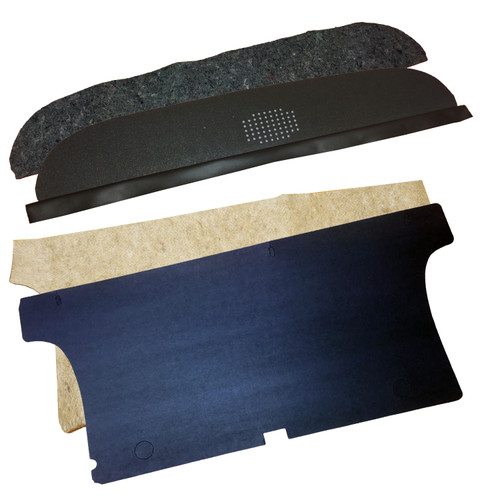 1962 - 1965 Chevrolet Nova Package Tray and Trunk Divider Kit With Jutes