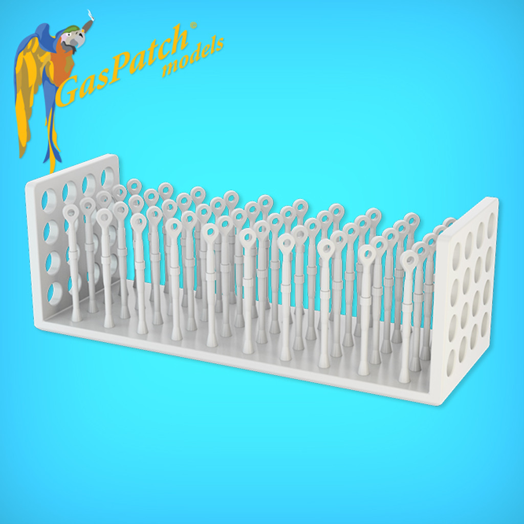 Resin Turnbuckles One End 1/24 (50 Items)