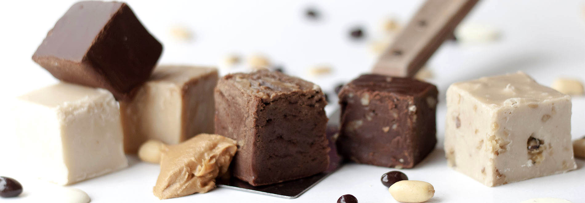 Thick, Rich Fudge Squares in Delicious Flavors