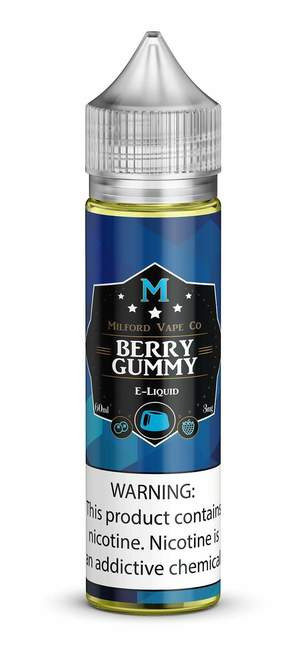 A unique twist on a classic gummy treat. Blueberries and raspberries combined with just a whisper of gummy goodness for a balanced candy flavor.