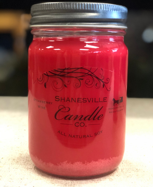 12 oz. Strawberry Wine Candle