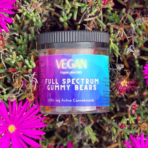500+mg Full Spectrum Gummies, Vegan & Organic