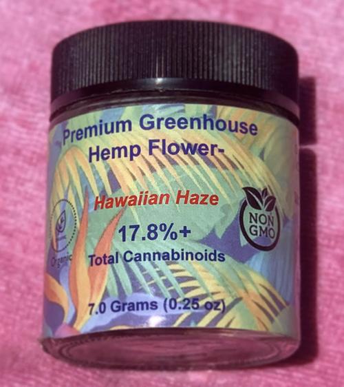 one quarter ounce (7g) Hawiian Haze Hemp flower