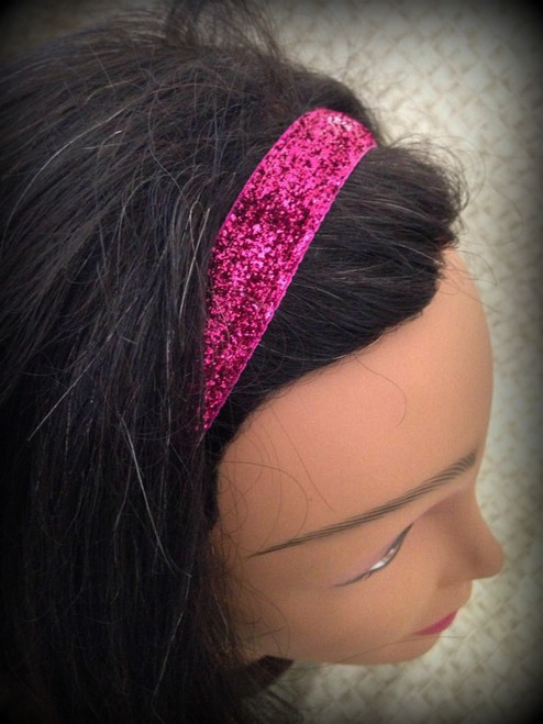 Shaka Girl Headband -  Shimmer Hot Pink 3/4""