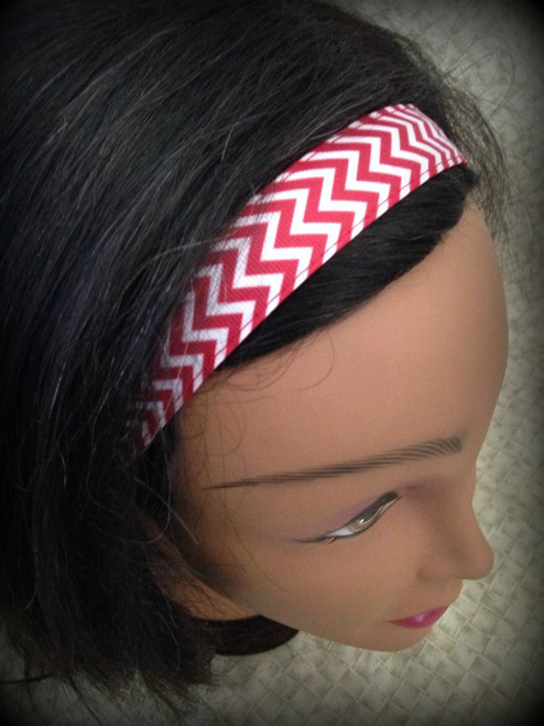 Shaka Girl Headband - Chevron Red 1""