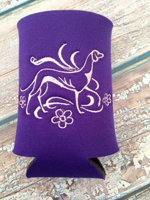 Can Koozie - Elegant Hound Purple