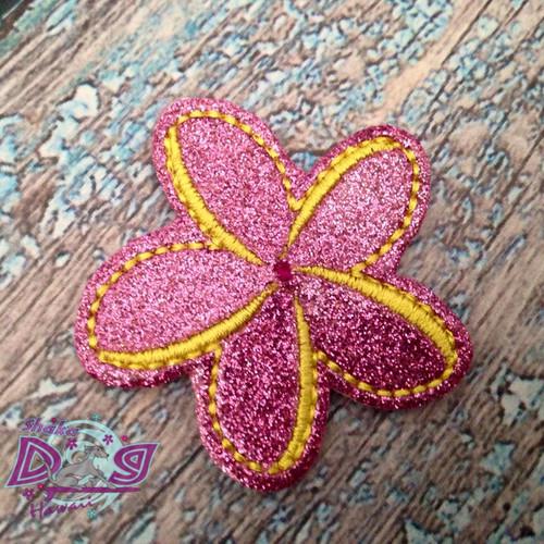 Collar Glam - Plumeria Flower Pink