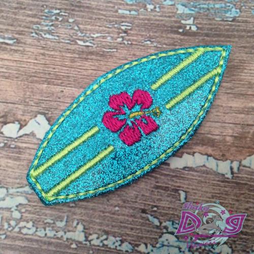 Collar Glam - Surfboard Turquoise Glitter