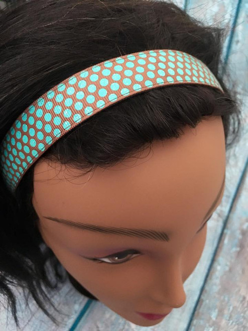 Shaka Girl Headband - Autumn Harvest Dots Tropic/Brown 1""