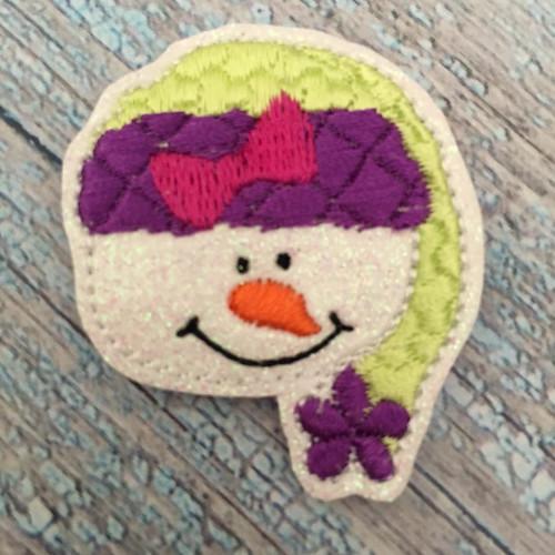 Collar Glam - Snowman Face Girl