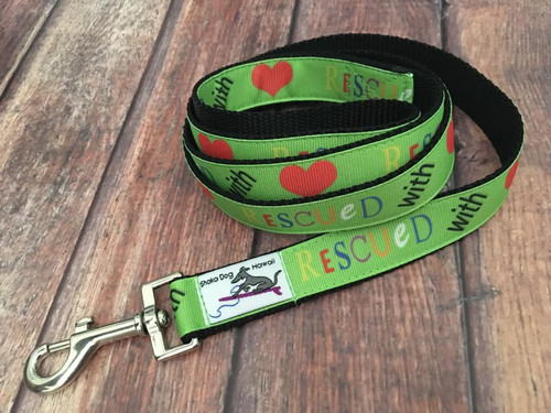 Rescued With Love Leash 5 Ft.