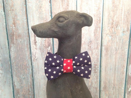 4th of July Stars Navy BowTie