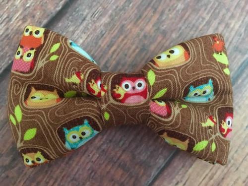 Peek A Hoot Owls BowTie