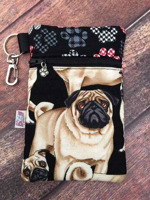 Pugs / Stylish Paws Zipper Pouch