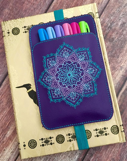 Planner Pocket Band - Mandala Purple
