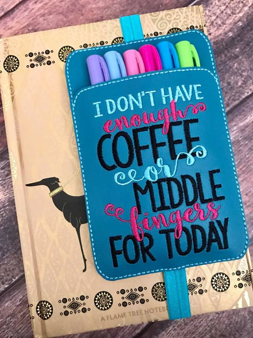 Planner Pocket Band - I Don't Have Enough Coffee... Teal