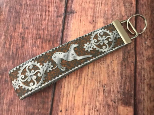 Key Leash - Steampunk Hounds Copper/Steel 10""