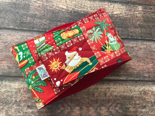 Premade Shaka Shield Bellyband:  Hawaiian Christmas 14-16""
